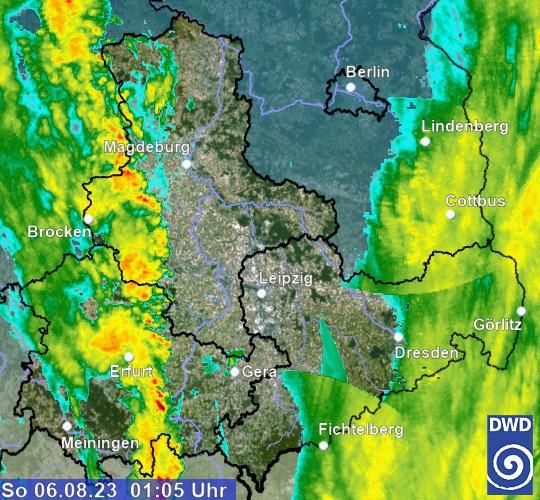 Radarbild Wetter