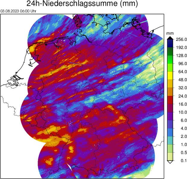 Aktuelles NiederschlagsRadar, deutschland - RegenRadar