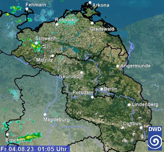 Wetter Brandenburg Radar