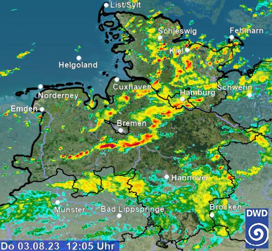 Regenradar Vorhersage Hessen