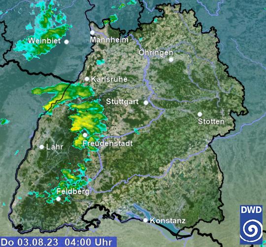 Regenradar Prognose Deutschland