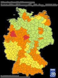 Warnkarte Deutschland